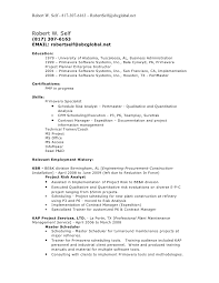 scheduler resume sample