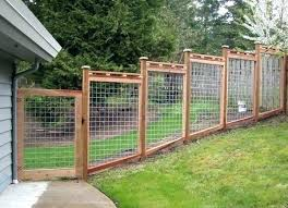 Hog Fence Hog Wire Fence Residential Wood And Wire Fencing Hog Wire