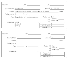 Cash Payment Receipt Template Free Templates Formats And
