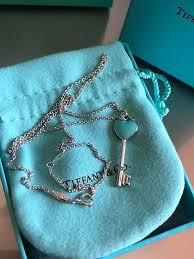 genuine tiffany keys heart key pendant
