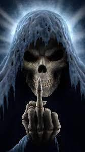 Horror Skeletons Skull Creepy Cards ...
