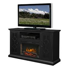 freestanding electric fireplace tv stand in aged black