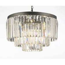 gallery odeon crystal glass fringe 3 tier chandelier free today 7535911