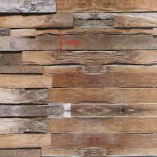 Haokhome 3d Rustieke Peel Stick Behang Houten Plank Bruingrijs
