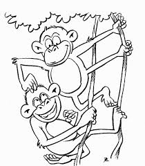 Monkey Coloring Pages Page Animals Town Animal Color Sheets Picture