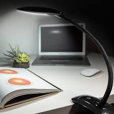 led desk lamp fospower 25 led bright light clip on flexible gooseneck
