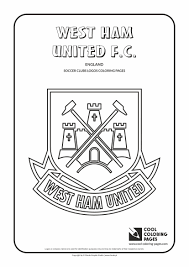 Small Picture Cool Coloring Pages Soccer Clubs Logos West Ham United FC