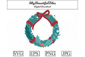 Christmas Wreath Clipart Design Graphic By Mybeautifulfiles Creative Fabrica