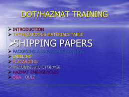 Dot Hazardous Materials Table Rbp Chemical Technologies Ppt Video Online Download