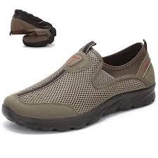 <b>Fashion</b> Large Size <b>Men Mesh</b> Breathable Soft Slip On <b>Running</b> ...