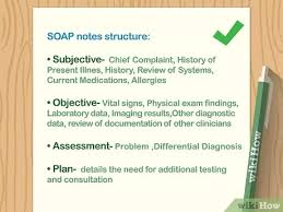 How To Write Soap Notes How To Write A Soap Note With Pictures Wikihow