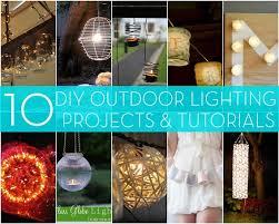 diy outdoor lighting. Roundup: 10 DIY Outdoor Lighting Projects Diy T