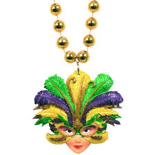mardi gras beads party supples whole to the public feathered mask lady necklace