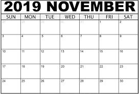 Calendar Template Online November 2019 Calendar Template Excel Online