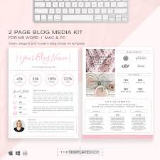 media kit template 2 page blog media kit press kit template electronic press kit instant download ms word pink and modern media resume template