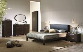 Sleek Bedroom Furniture Sleek Interior Bedroom With Wooden Accents On The Bed Frame And