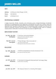 Online Job Resume Online Resume Builder Create A Perfect Resume In 5 Minutes