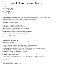 Sample Resume For A Driver Therpgmovie