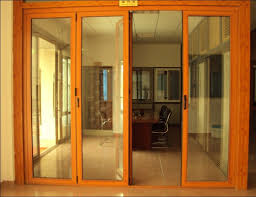 wood sliding patio doors with wood finish aluminum bi fold door interior sliding glass door