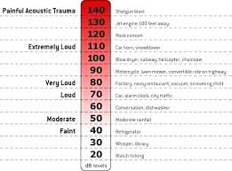 Typical Noise Level Chart Common Decibel Comparison Kids Study