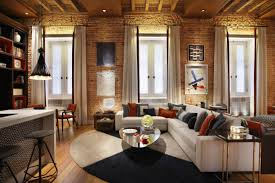 White Exposed Brick Wall Living Rooms With Exposed Brick Walls
