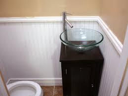 Wainscoting And Tiling A Half Bath HGTV - Half bathroom remodel ideas