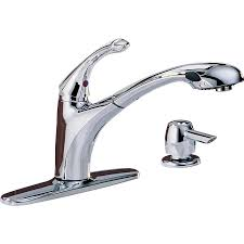 Lowes Kitchen Faucets Delta Shop Delta Debonair Chrome 1 Handle Pull Out Kitchen Faucet At