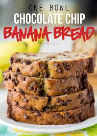 this one bowl chocolate chip banana bread recipe is so easy and seriously so