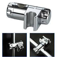 details about shower head bracket holder stand abs replacement adjule chrome for bathroom