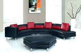 curved leather sofa sofas and round sectional couch o54