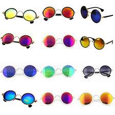 fashion multicolour 2016 mercury mirror glasses men sunglasses women male female coating sunglass gold round metal pc frame mens eyeglasses sport sunglasses