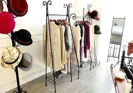clothing rack display bags shelf vintage shelves floor to ceiling