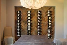 wine rack dining table. Delighful Dining Dining Room With Wood Herringbone Wine Rack And Table