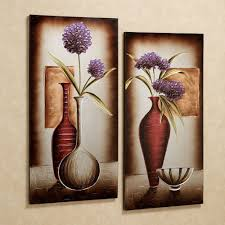 Floral Tranquility Canvas Art Set Purple Set Of Two