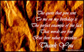 Beautiful Thank You Quotes For Birthday Wishes Best of Thank You Messages For Birthday Wishes Quotes And Notes