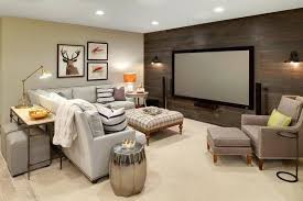 basement idea. Decoration: Rustic Basement Ideas Large Underground Carpeted Idea In With Beige Walls Bar A