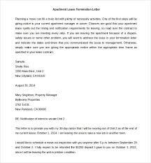 Sample Letter To Landlord To Terminate Lease Early 23 Lease Termination Letter Templates Pdf Doc Free Premium