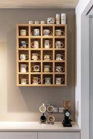 wooden shelving unit with cubbies 23 awesome ways to organize your coffee mug