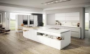 Ewe Vida Moderne Küche Mit Kochinsel Weiß Hochglanz In 2019