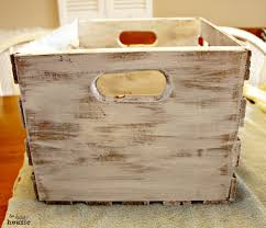 dry brush over stain rustic numbered crates with simplicity at the happy housie