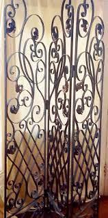 wrought iron screen antique