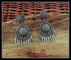 earrings silver leaf chandelier art jewelry women accessories