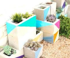 cinder block garden wall. Concrete Block Planter Wall Cinder Garden Ideas