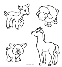Farm Animal Coloring Pages Free Printable Hoteldateninfo