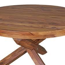 Design Esszimmertisch Rund ø 120 Cm X 75 Cm Sheesham Massiv Holz