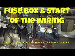 fuse box and start of wiring f frame swap ep fuse box and start of wiring f100 frame swap ep15