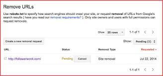 Image result for delete website webmaster tools