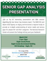 Senior Gap Analysis Presentation   Alpine Area Agency On Aging