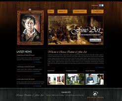 Artist Website Templates Fine art web Template by crazeeartist on DeviantArt 1