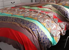 3 piece ethnic bohemian style nice and color bedding sets collections morocco boho